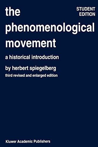 (The Phenomenological Movement: A Historical Introduction (Phaenomenologica))