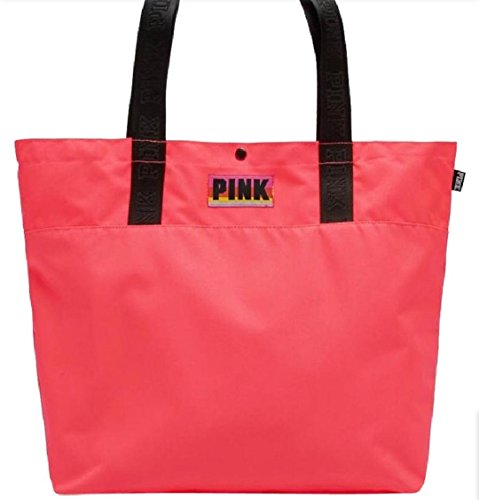 Victoria's Secret PINK Tote Bag for Beach / Travel / Book Coral Marl Grey (Coral)