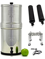 Big Berkey Stainless Steel Water Filtration System With 2 Black Filter Elements Stainless Steel Wire Stand And Stainless Steel Spigot 2 1 Gallon Big Berkey