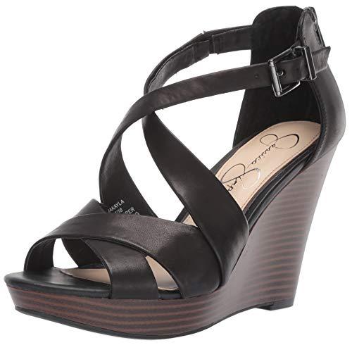 Jessica Simpson Women's Jakayla Sandal, Black, 8 M US