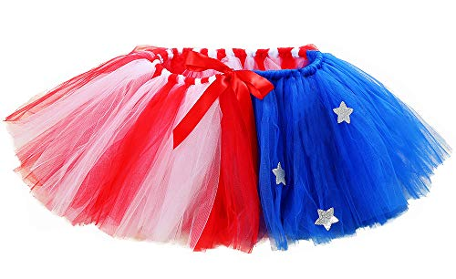 Tutu Dreams July 4th American Flag Tutu for Women Independence Day Party Dress (Free Size, Red-Blue) … ()
