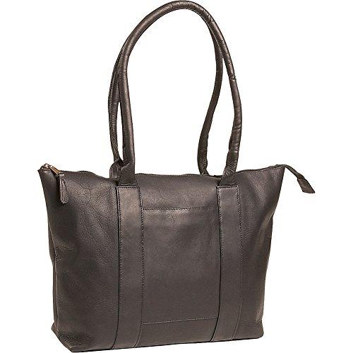 (Clava Vachetta Leather Zip Tote (Vachetta Black))