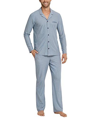 Para Gris Hombre 209 Lang Schiesser Pyjama graublau Pantalones De Pijama 0ngX0Rwq
