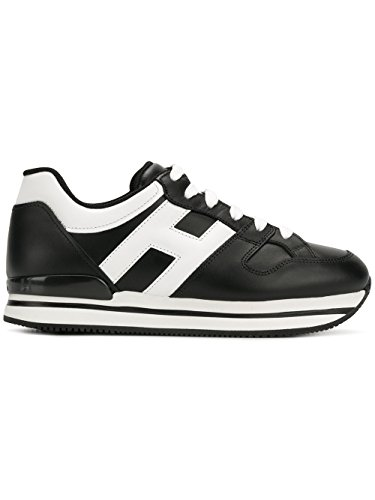 Hogan Kvinder Hxw2220t548kla0002 Hvid / Sort Læder Sneakers I3fRCh