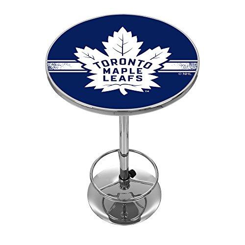 Trademark Gameroom NHL Toronto Maple Leafs Chrome Pub Table (Bar Toronto Cart)