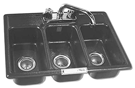 Three Compartment Sink Faucet.Amazon Com Moli International Three Compartment Drop In