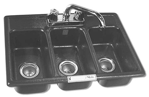 Moli International Three Compartment Drop In Mini Sink(FAUCET NOT INCLUDED)