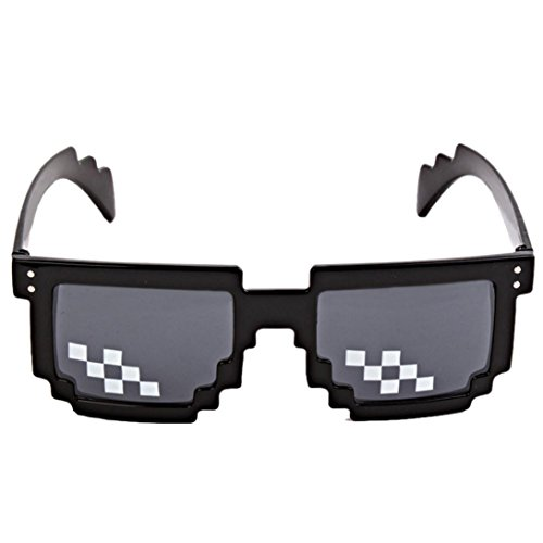 Thug Life Glasses 8 Bit Pixel Deal With IT Sunglasses Toy (Art Pixel Sunglasses)