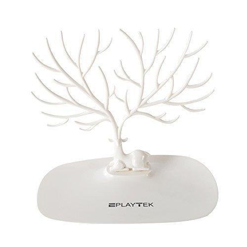 Bracelet Display Rack (Jewelry Stand Display Tower, EplayTek Bracelet Holder Jewelry Rack Necklace Rack for Home Use ABS Material Deer Tree(White))