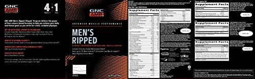 GNC AMP Mens Ripped Vitapak Program, 30 Packs, with Metabolism and Muscle Support 2