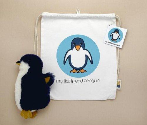Flat Friends PENGLD Fairy Penguin Lambskin Soft Toy & Drawstring Bag