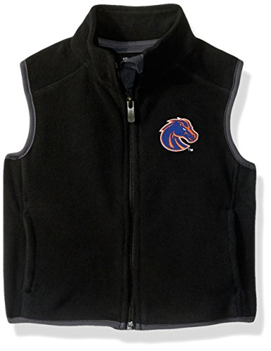 NCAA Boise State Broncos Kids & Youth Boys Scrimmage Polar Fleece Vest, Black, Youth X-Large(18) by NCAA by Outerstuff