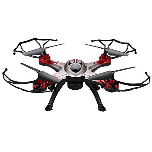 Floureon-JJRC-H29G-Drone-Quadcopter-RC-Helicopter-4CH-6-Ejes-Gyro-RC-Led-24Ghz-Auto-Retorno-con-Un-Botn-Cmara-HD-2MP-58G-Transmisin-en-Tiempo-Real-Rojo