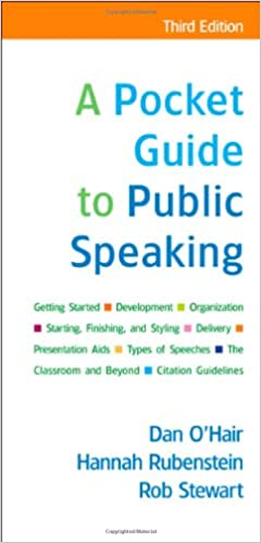 A pocket guide to public speaking dan ohair hannah rubenstein a pocket guide to public speaking dan ohair hannah rubenstein rob stewart 9780312554040 amazon books fandeluxe Images