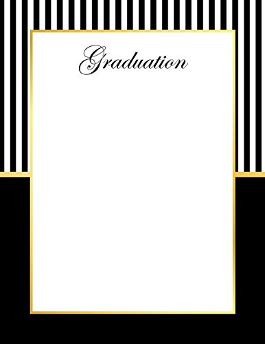 Geographics Graduation Letterhead Gold Foil, 8.5 x 11 Inches, Black Gold Foil, 40-Sheet Pack (49659) - Foil Geographics