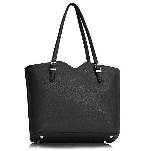 Trendstar bolsos de modo de mujer de estilo célébrité de marca Negro - Noir/Sarcelle