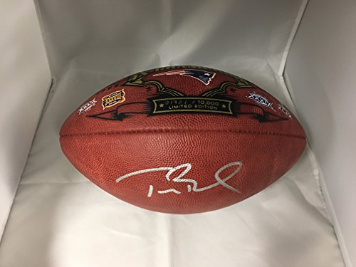 Super Bowl Limited Edition Football (Tom Brady Autographed Signed New England Patriots Super Bowl Limited Edition Authentic Leather Football TRI STAR)