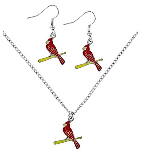 (St Louis Cardinals - MLB Earrings & Pendant Necklace Gift Set )