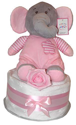 Madchen Rosa Baby Windel Torte Plusch Suss Elefant Rattletoy Design