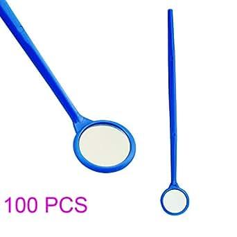 zinnor 100 pcs dental disposable mouth exam mirrors plastic dental instrument. Black Bedroom Furniture Sets. Home Design Ideas