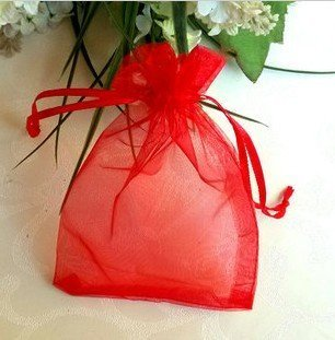 7' Organza Bag - 100 PCS 5''*7'' Sheer Organza Favor Bags Red by akezone