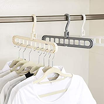 Drawoz Rotate Anti-Skid Folding Hanger Portable Hanging for Home Wet Dry Clothes