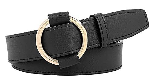 Urbanity Women's Faux Leather Belt (Black; Free Size)