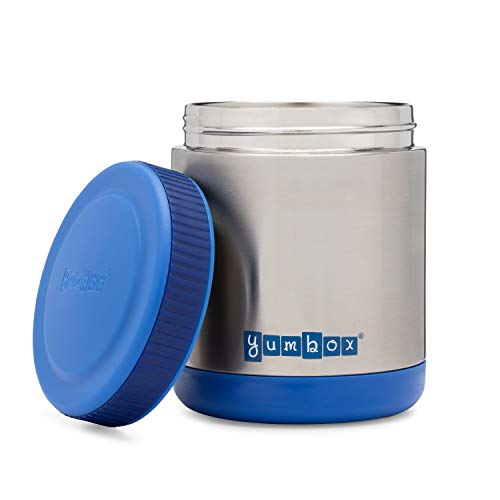 Wide Mouth Food - YUMBOX Zuppa - Wide Mouth Thermal Food Jar 14 oz. (1.75 cups)- Triple Insulated Stainless Steel Food Container - Stays Hot 6 Hours or Cold for 12 Hours - Leak Proof - in Neptune Blue