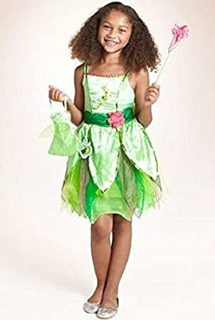 Officially Licensed Disney Tinkerbell Fairy fancy dress up Girls costume with Wand u0026 Bag Made  sc 1 st  Amazon UK & Officially Licensed Disney Tinkerbell Fairy fancy dress up Girls ...