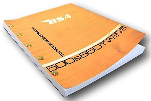 Bsa A65 Lightning A65 Wasp Service Repair Workshop Manual Construction Twins
