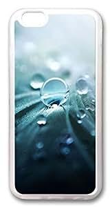 iPhone 64.7pulgadas Caso y cubierta Pure primeros planos de rocío PC duro funda carcasa de goma de silicona para iPhone 64.7pulgadas Transparente