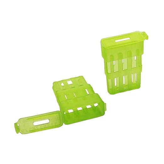 30 piezas de plástico verde delgado rey de la cárcel jaula rey ...