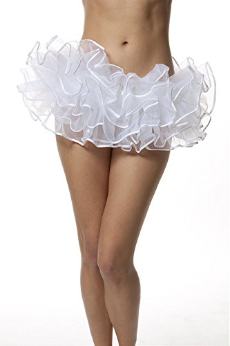 Adult Organza Poofy Ballet Style Tutu w/Binding for Halloween Costume, Princess Tutu, Ballet Tutu, Dance Outfit, or Fun Run