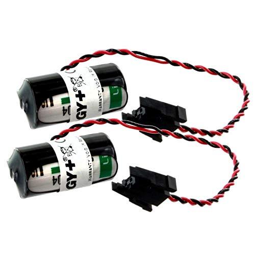 2x PLC Lithium 3.6V 2100mAh Computer Backup Batteries Replace ANS SERIES, BM6970MC, Q SERIES, RH-10AH, RH-15AH, RH-5AH, RP-1AH, RP-3AH, RP-5AH, RV-12S, RV-1A, RV-2AJ, RV-3AL, RV-4A, RV-5AJ, RV-6S