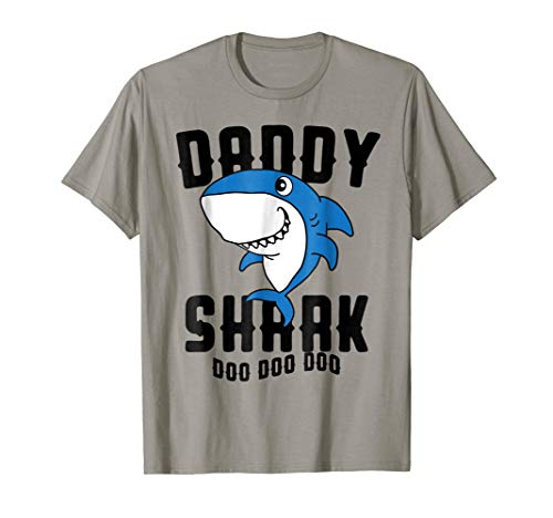 Daddy Shark T Shirt Father Grandpa Halloween -