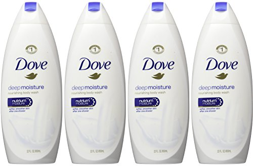 Dove Body Wash, Deep Moisture 22 oz, Pack of 4