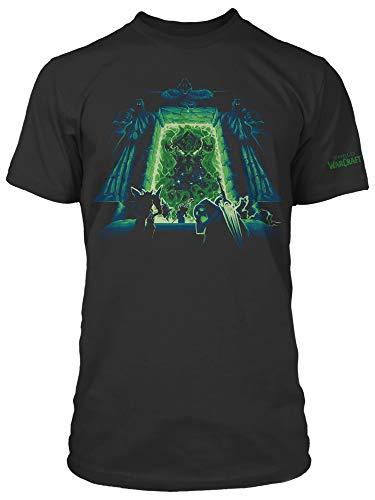 JINX World of Warcraft Men's Expansion Series Burning Crusade Gaming T-Shirt (Black, Medium)