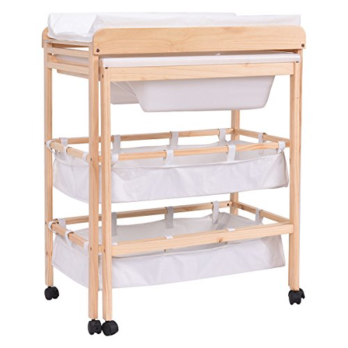 Amazon.com : Costzon Baby Changing Table Diaper Nursery Station With Bath  Tub Combination : Baby