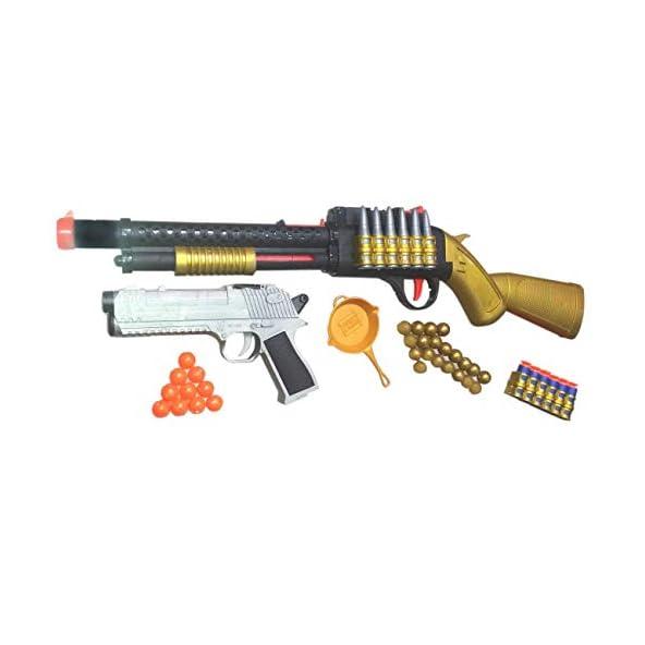 nandani enterprises Sniper Toy Gun with Laser Target System and Bullets Golden