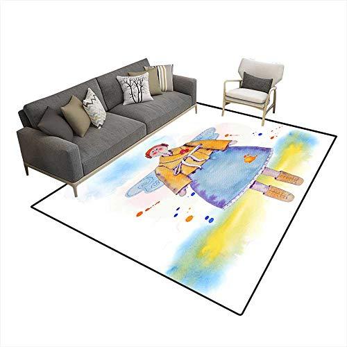 Kids Carpet Playmat Rug Fairy Doll 6'x8' (W180cm x L240cm