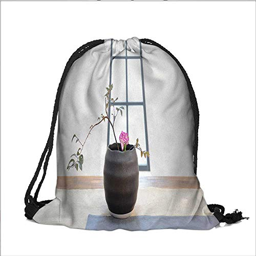 printing Drawstring Gift Bag Potted Horticulture for Travel,Family,Dorm 12