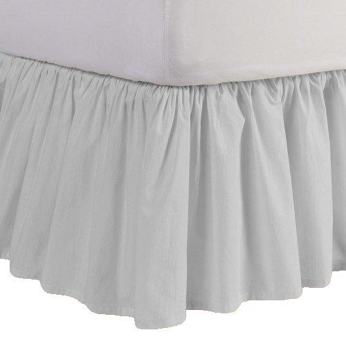 600スレッドカウント分割コーナー用フリル付きベッドスカートソリッドシルバーグレー100 %エジプト綿キング( 78