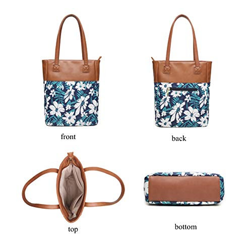 98711010d6 Finders | Aitbags Canvas Tote Bag for Women PU Leather Floral Purse ...