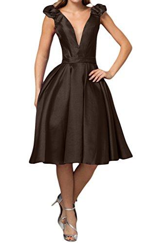 Missdressy -  Vestito  - linea ad a - Donna marrone 44