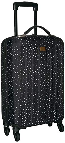 Roxy Junior's Stay True Wheelie Rolling Suitcase, Black dots for Days, One - On Carry Roxy