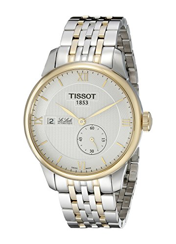- Tissot Men's T0064282203800 Le Locle Analog Display Swiss Automatic Two Tone Watch