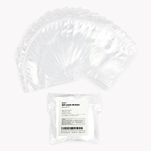 """Becko 100 Count 4 Mil 6"""" x 4"""" Zip Lock Plastic Clear Poly Ba"""