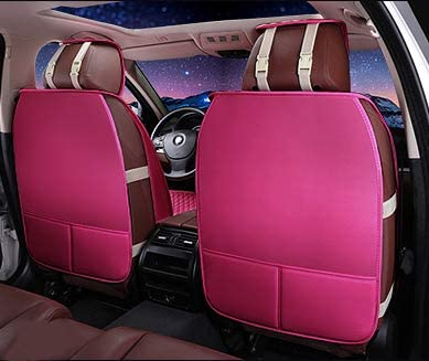 shuiniuyang SCXZHH Full Set Front /& Rear Universal Resistant Girl/&Women Full Covered Auto Interior Accessories Universal Car Seat Cover Protector Girl/&Women Rose Pink