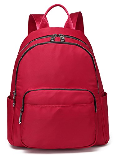Small Fashion Backpack Purse For Women Girls lightweight Mini College School Bag (Small, Red - Backpack Purse Red