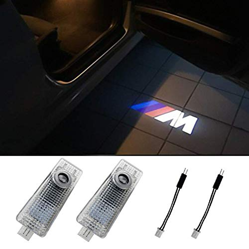 Klinee BMW Accessories Car Door LED Lighting Welcome Lights Shadow Projector for BMW 3 5 6 7 Z GT Series(2 Pack)
